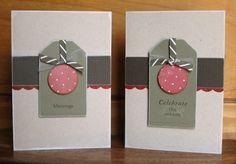 Simple Tag and Craft Christmas cards by Elmi Raubenheimer
