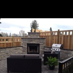Love this built in BBQ