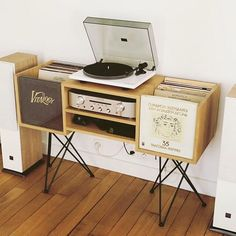 players room design - players room _ players room design _ rooms with record players _ record players in rooms _ room ideas for soccer players _ football players locker room _ living…More Vinyl Room, Vinyl Record Storage, Boho Living Room, Living Rooms, Living Room Remodel, Consoles, Home Furniture, Home Goods, Record Players