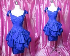 #Vintage #Couture 1980s David Fielden Pure Silk Party Dress by QuirkVintageClothing, $325.00