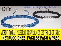 ▶ COMO HACER PULSERA CON HILO Y DE CUENTAS DE NUDOS DE MACRAME EN ESPIRAL AJUSTABLE. TUTORIAL DIY - YouTube