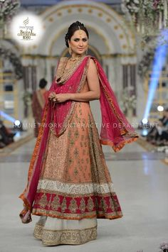 This Aisha Imran bridal is a beautiful change up from red for a bride, or could also be a vibrant valima outfit.