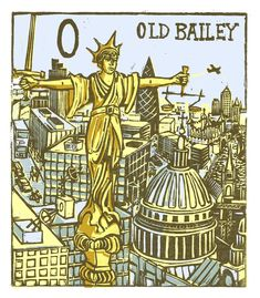 "Tobias Till ~ ""O"" Old Bailey from London A-Z Complete Boxed Set (2012) ~ Linocut, Somerset satin 250 gsm paper, 41.5 x 37.5 cm"