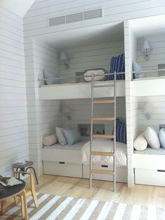 bunk beds - Coastal - Kids - Images by FO Design | Wayfair