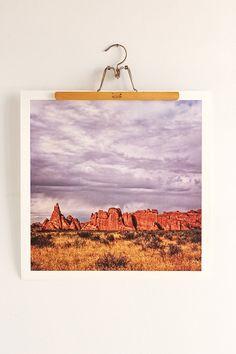 Aaron Morris Red Rocks Art Print - Urban Outfitters