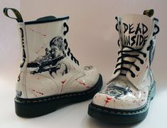 The Walking Dead customised Dr Martens by RTyson on Deviant Art