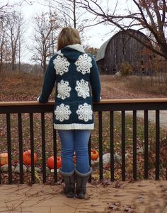 We got our first snow last week and it got me all excited for the season of warm soups and cozy sweaters. It took me about a week to whip this snowflake hoodie sweater up and I will do my best to pass on the instructions to others. I did not take photos as I…