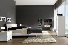 grey walls contemporary bedroom  | Contemporary Bedroom Decorating Ideas in Cozy and Romantic Styles