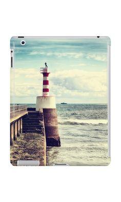 'Amble Pier Lighthouse' iPad Case/Skin by Vicki Field Framed Prints, Canvas Prints, Art Prints, Ipad Case, Art Boards, Lighthouse, Clock, Cases, Apple