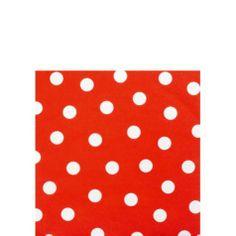 Red Polka Dot Beverage Napkins 16ct - Cocktail Napkins - Entertaining & Serving - Categories - Party City