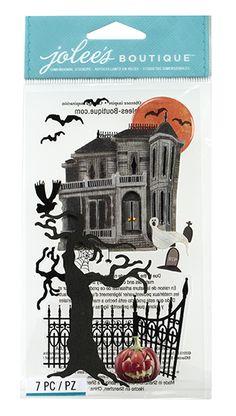 EK Success - Jolee's Boutique - Halloween 2013 Collection - 3D Stickers - Haunted House at Scrapbook.com