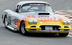 Vintage Corvette Race Cars | Classic Corvette Car Racing 59 Front View Photo 2