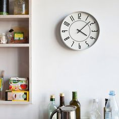 【送料無料】掛け時計ナンバーの時計MサイズLemnos[レムノス]YK16-03M【スイープムーブメントスイープセコンド壁掛け時計時計壁掛けプライウッドビンテージナチュラル北欧テイストデザイナーズかわいいおしゃれインテリア新生活木製新築出産】