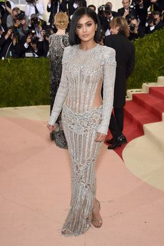 2016 MET Gala 'Manus x Machina: Fashion in an Age of Technology' - Kylie Jenner in Balmain