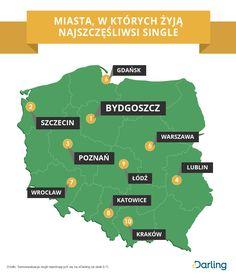Infografika: Miasta, w których żyją najszczęśliwsi single