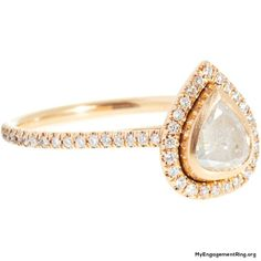 rose gold diamond pearl  engagement ring - My Engagement Ring