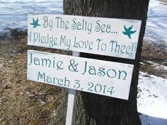 #wedding #decorations #signs beach wedding outside directional sign