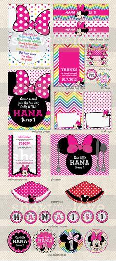 Hana's Minnie Mouse Party