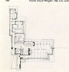 Elevations and wall section herbert jacobs house i for Usonian house plans
