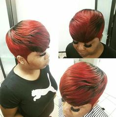 Lovely 27 Piece Hairstyles, Mommy Hairstyles, Quick Weave Hairstyles, Cute Hairstyles For Short Hair, Black Girls Hairstyles, Pretty Hairstyles, Short Sassy Hair, Short Hair Cuts, Short Hair Styles