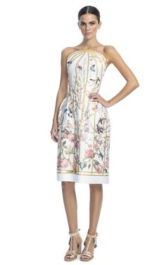 Thakoon - Spring 2013 Trend; Gold & White. Interesting, elegant birdcage and nature look.