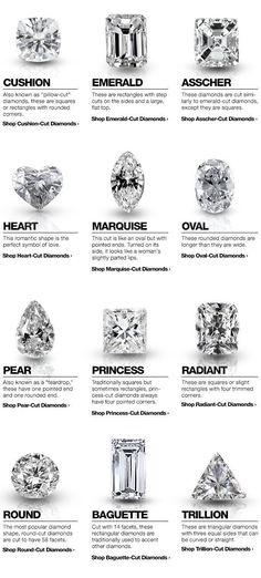 Asscher Cut Diamond, Emerald Cut Diamonds, Diamond Shapes, Diamond Rings, Solitaire Diamond, Solitaire Rings, Cuts Of Diamonds, Different Diamond Cuts, Types Of Diamond Cuts