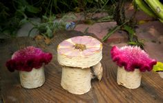Wood Fairy Table and Chairs by BarnWoodArt on Etsy, $14.00