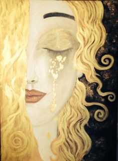 IT's NOT Gustav KLIMT WORK AT ALL!! | painting 'Larme d'or' by Anne Marie Zilberman | Imitation (Inspired) of Gustav Klimt.