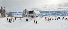 The new Teton Lift offers a new view of the base area of Jackson Hole Mountain Resort in addition to opening new intermediate and expert terrain on the resort's northern end.
