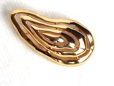 SIGNED Mimi di N ©1988 -  Large Wonderful Modern Gold Brooch - UNIQUE