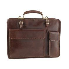 fd548940c10f Chiarugi Classic Cartella Italian Leather Briefcase