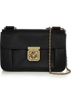 Chloé Elsie medium textured-leather shoulder bag | NET-A-PORTER