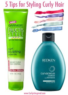 Five Tips for Styling Curly Hair - I have wavy hair that I have a hard time styling.  I'm going to put away my hair drying for a while to see if this helps like this pin says.