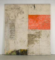 "dailyartjournal:  Oscar Murillo, ""Work! #3"", , oil, tape, spray, oil stick, dirt on canvas"