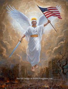 This is my painting based on a vision of George Washington. Jon Mcnaughton, Thomas Kincaid, Jesus Pictures, Angel Pictures, Flag Painting, Lds Art, In God We Trust, God Bless America, Beautiful Artwork
