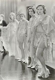 Early fashion parade. Great lingerie!