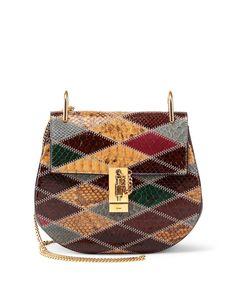 Chloe Drew Small Python Shoulder Bag, Multi
