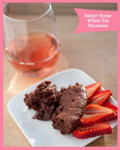 Sutter Home White Zinfandel makes these chocolatey brownies even more delicious!