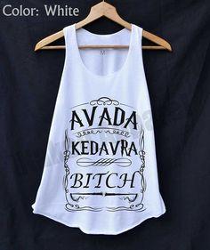 Harry Potter Zauber Avada Kedavra Assistenten Shirt Tank-Top weiss Damen Größe S M L