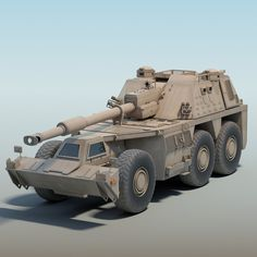 The model of South African Wheeled Self-Propelled Howitzer (SPH), Rhino. Military Gear, Military Weapons, Army Vehicles, Armored Vehicles, Modern Fighter Jets, South African Air Force, Army Day, Defence Force, Military Pictures
