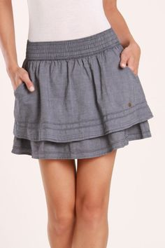 Tommy Girl Jory Skirt In Chambray Blue