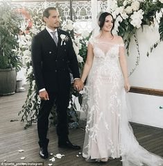 Chloe Morello, 27, has tied the knot to exotic dancer Sebastian Mecha, 29 (pictured togeth...
