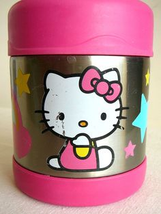 HELLO KITTY 10oz THERMOS Stainless Steel Insulated Funtainer Hot or Cold,  Pink #Thermos