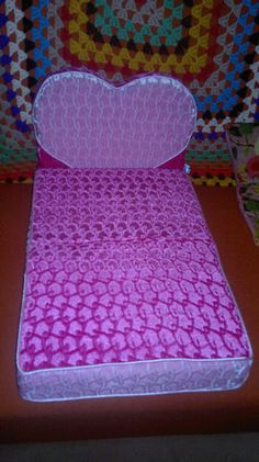 Pink Heart Velour Small Dog Bed
