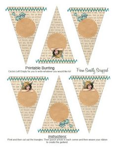 Free Printable Bunting from Sweetly Scrapped