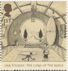 **UK - 1st class - JRR Tolkien The Lord Of The Rings Stamp - 2004.  The Hall at Bag End.