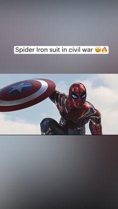 Spider Iron suit in civil war 🤩🔥