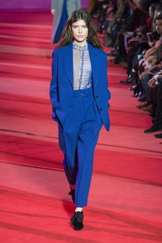 the matching blue suits  3.1 Phillip Lim | Ready-to-Wear - Autumn 2017 | Look 38