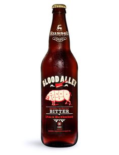 Blood Alley Bitter  I'm not sure what this would taste like, but the bottle, shirt and Tap look amazing.