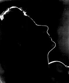 """Clarence Sinclair Bull used """"eclipse lighting"""" to make this famous portrait of Garbo for Ninotchka. 1939"""